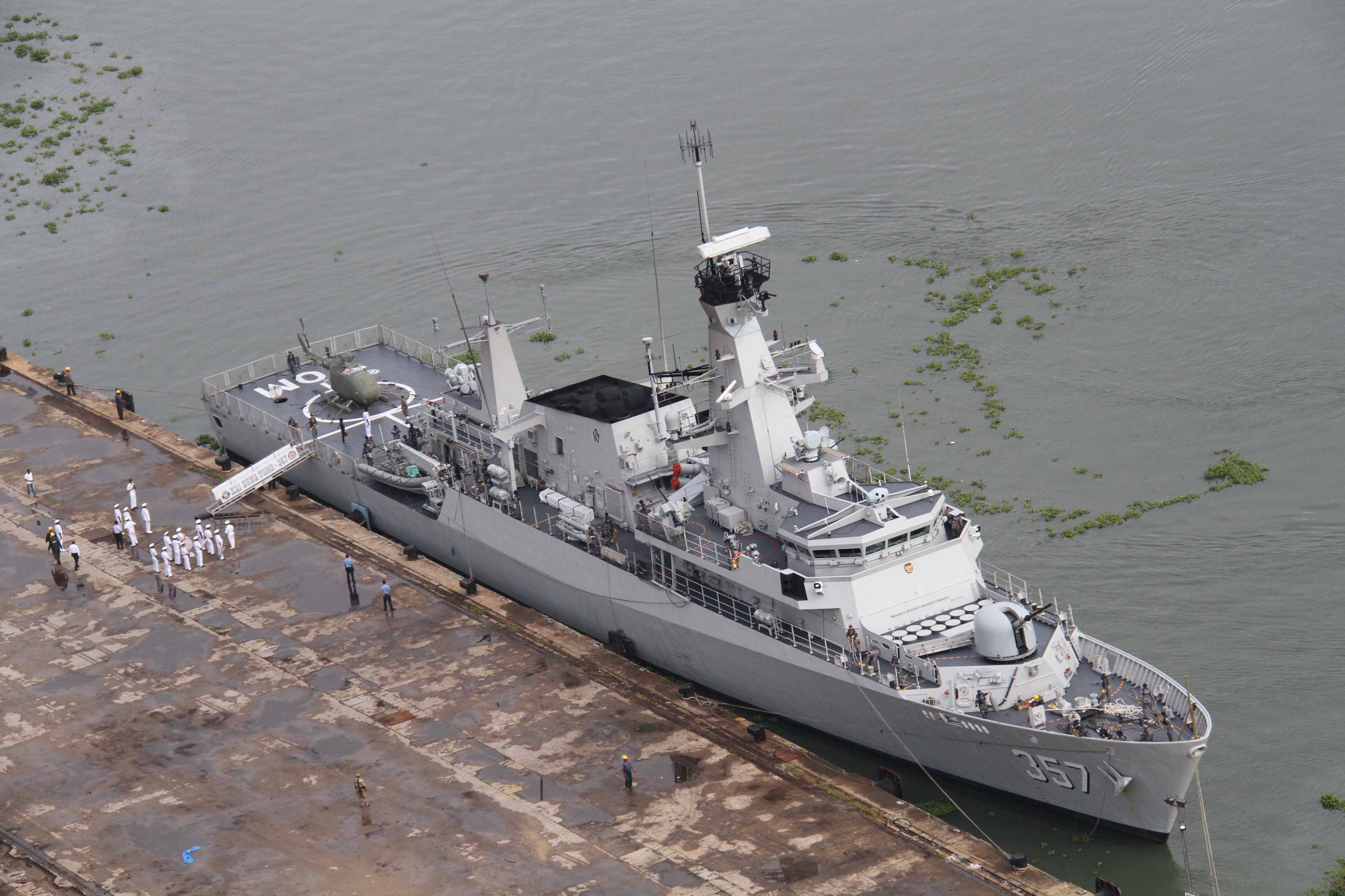 Indonesian Naval Ship Kri Bung Tomo, A Multirole Light Frigate (pennant No  357), Visited Kochi From September 810