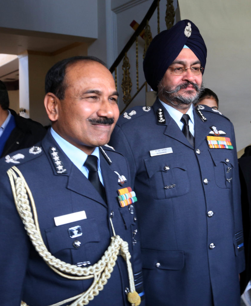 Air Chief Marshal Raha introduced his successor, Vice Chief of Air Staff Air Marshal BS Dhanoa, on the occasion.