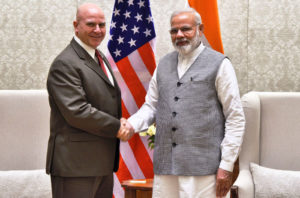 Lt. Gen. H. R. McMaster, NSA US, calls on the Prime Minister, Sh