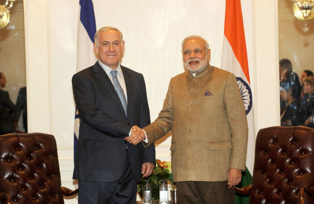 PM Modi with Israel PM Benjamin Netanyahu in a file photo