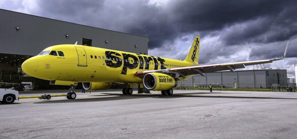 First-A320- Spirit-out-of-paint