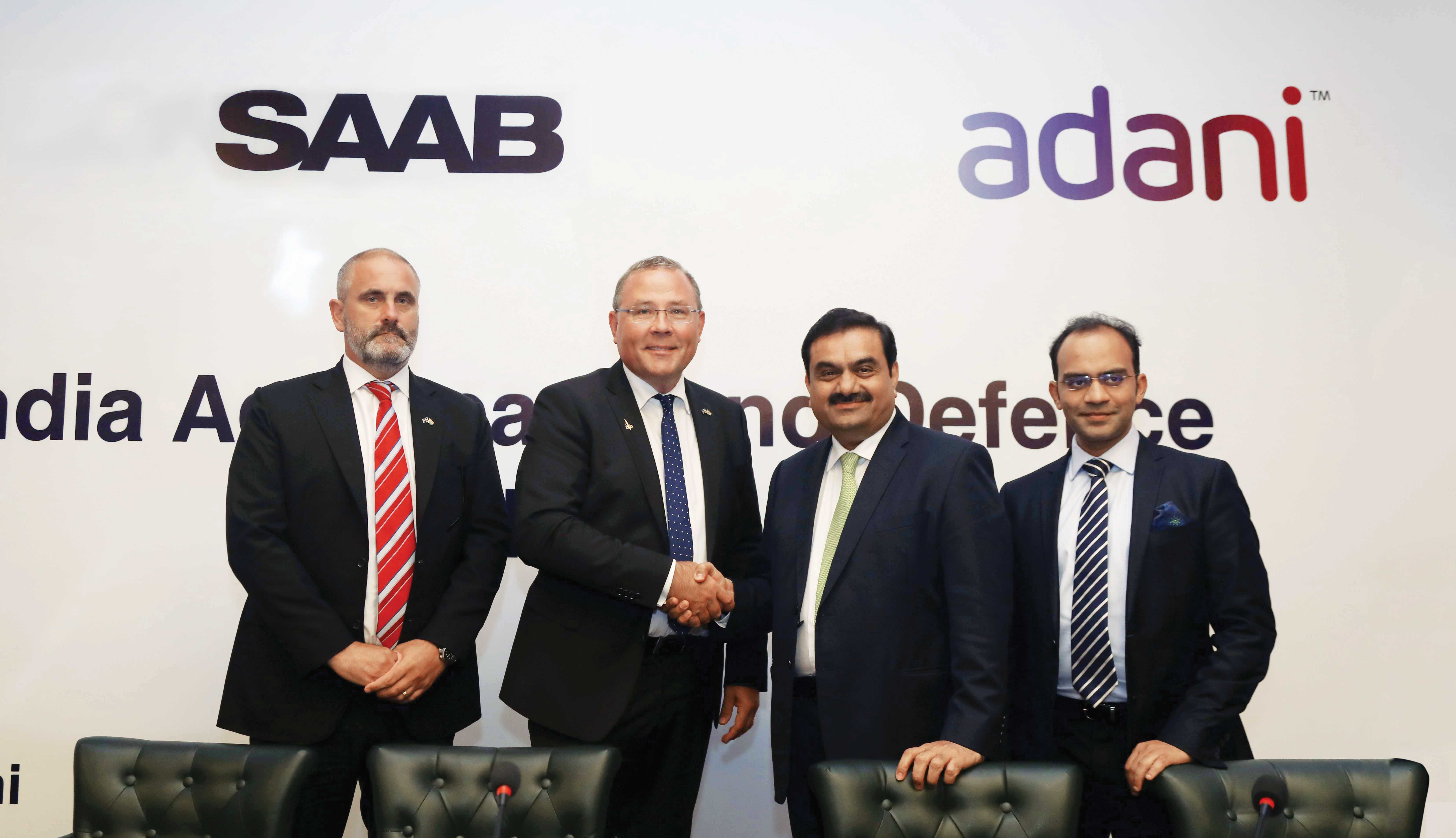 Saab-and-Adani-announce-Collaboration-Plan-for-Aerospace-and-Defence-in-India