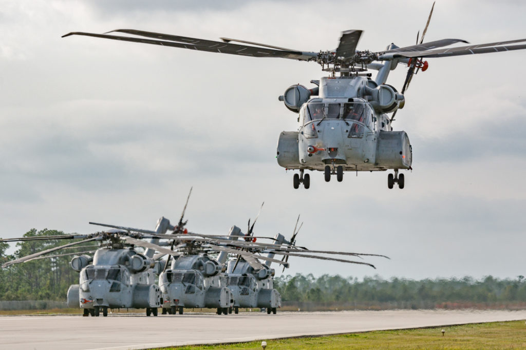 Sikorskys four CH-53K flight test vehicles